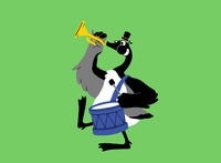Honk BC honk geese goose animal illustrator illustration illustration design