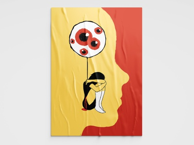 Bullying vector red yellow design color illustrator illustration art drawing illustration
