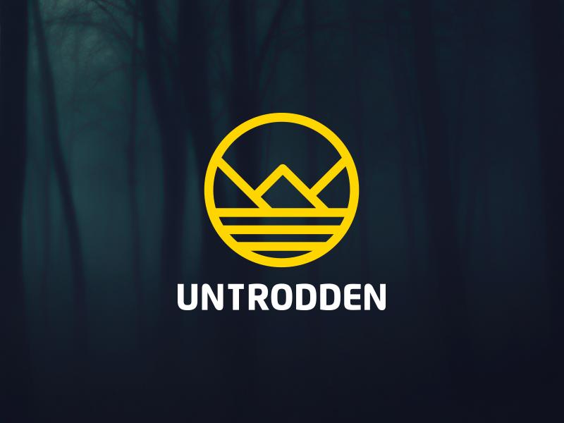 Untrodden logo branding brand design logotype gold untrodden symbol wild wild lands collective startup san francisco
