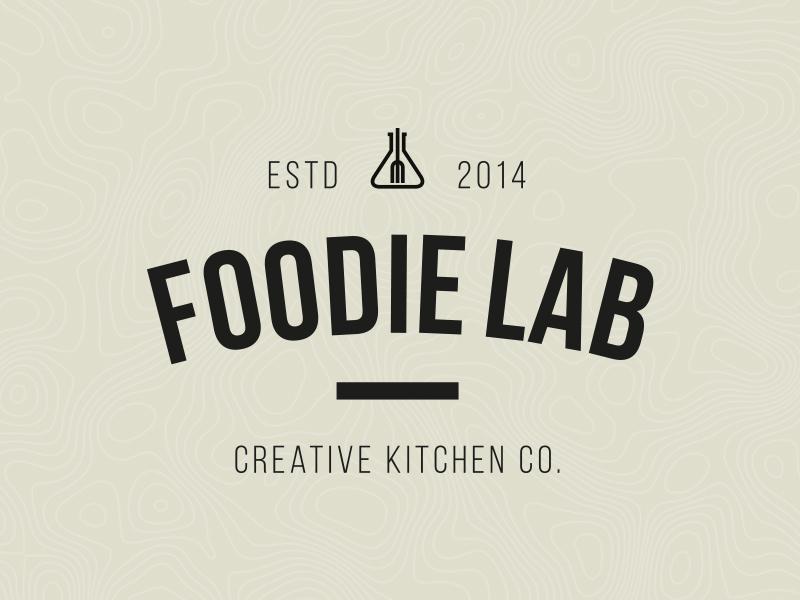 Foodie Lab (logo) hipster logo symbol food foodie dish brand branding lab foodie lab foodielab creative kitchen