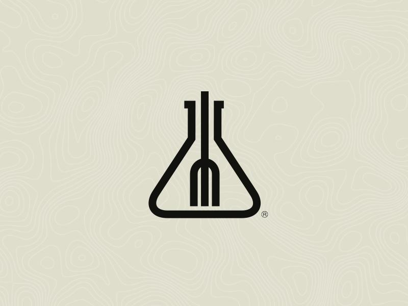Foodie Lab (isotipo) logo symbol food foodie dish brand branding lab foodie lab foodielab creative kitchen hipster