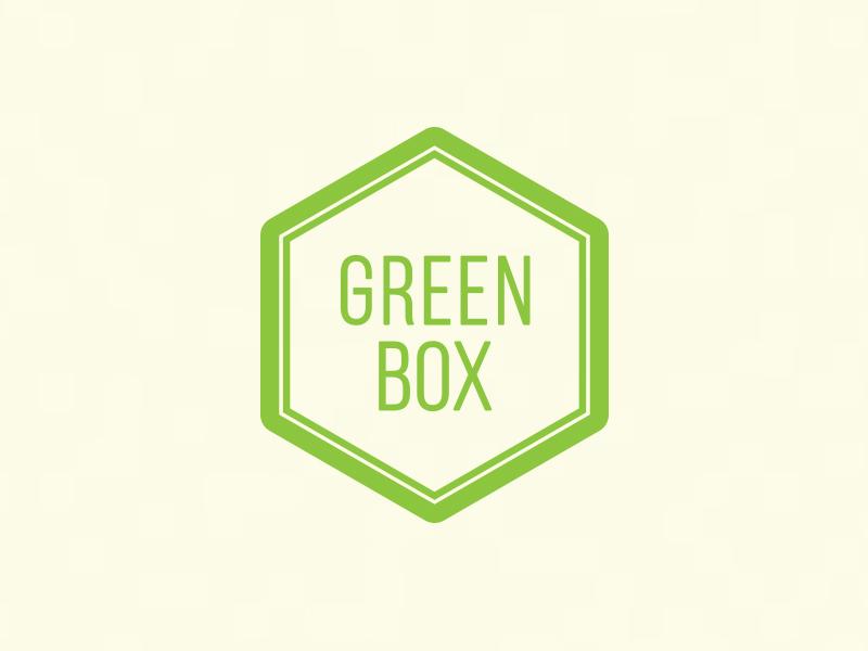 Green Box salad green foodie food mark symbol brand logo branding