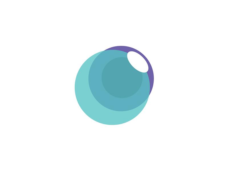 Smart vision eye optician smart vision óptica purple acqua symbol branding brand logo