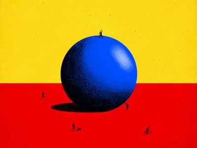 BBB (Big blue ball)
