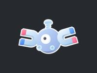 Magnemite custom illustration pokémon stickermule magnet magnemite