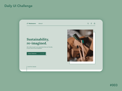 Daily UI - Landing Page dailyui003 sustainable ui dailyuichallenge design ui design