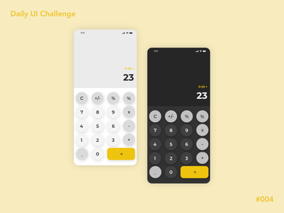 Mobile Calculator Design calculator design calculator ui calculator ui ui design design dailyuichallenge dailyui004