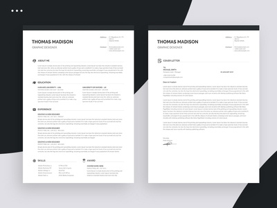 Clean Resume resume template word word minimalist resume minimalist resume template template resume 2 page resume 1 page resume design cv template cv clean clean resume creative a4 blue
