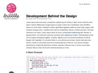 Dribbble development