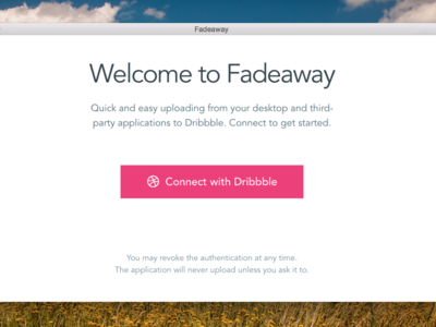 Fadeaway work-in-progress development dribbble api