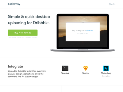 Launched! sketch live launched landing page dribbble buy application api