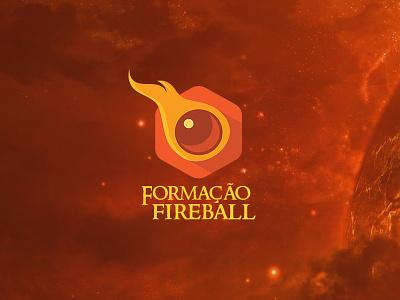 Branding Formação Fireball branding rpg medieval middle-earth fantasy fire fireball moon sun explosion red graphic design