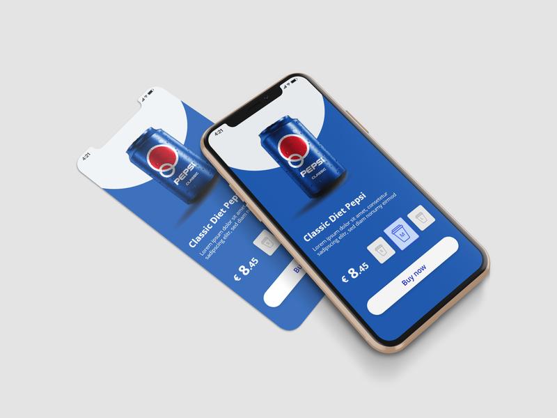 Pepsi app colour collective app branding vector desiginspiration ux concept design ui illustration