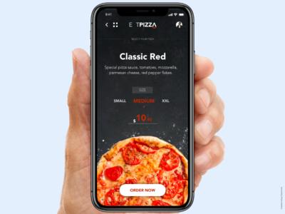 Eat Pizza app art concept design ux illustration ui