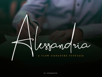 Alessandria Signature Font on Bundles
