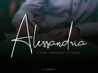 Alessandria Signature Font on Bundles