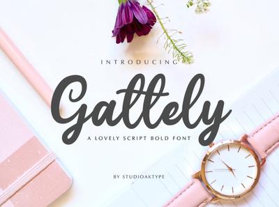 Gattely Script Bold Font