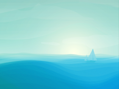 you and me and the great big sea daily challenge illustration waves sunrise sailboat ocean