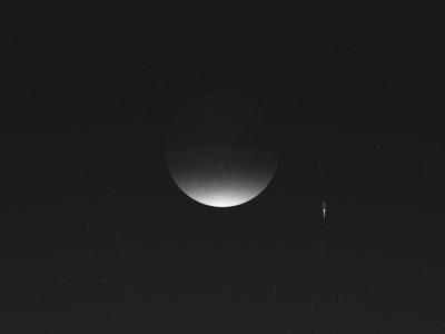 Moonglow illustration stippling stars orbit dragon spacex space moon