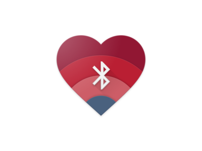 Hemocyanin material design app icon heart bluetooth