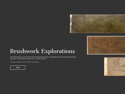 Brushwork Explorations chinese landscape painting hiaa1201 brown university risd