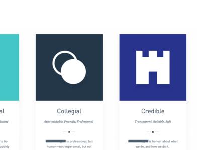Brand Attributes Closeup iconography branding