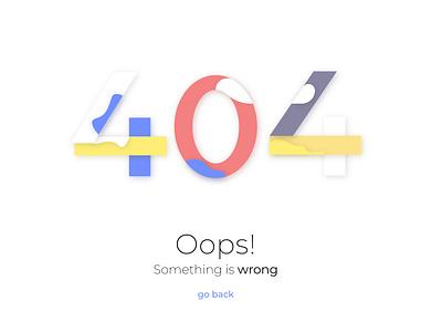 404 Page Error minimalist ui design web 404 page error page 404