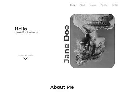 Photography Portfolio web UI minimalist personal website web portfolio website portfolio site portfolio ui design