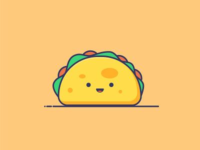 Taco 😚 vectors cute illustration taco cute