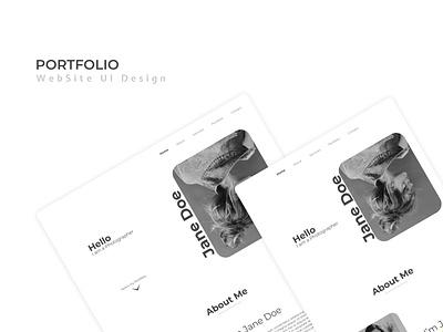 Portfolio web UI black and white website design portfolio web ui minimalist design