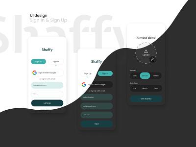 Sign In & Sign Up | UI Design light dark clean page sign up sign in up in sign simple app mobile mobile app design ui minimalist