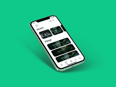 Mindy - Meditation App yoga green mindful health mimal android ios app graphic design uiux meditation ux mobile app clean ui minimalist design