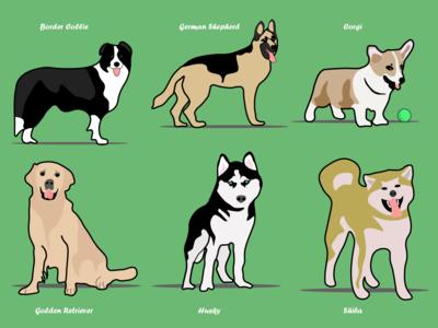Dog Series 1-6