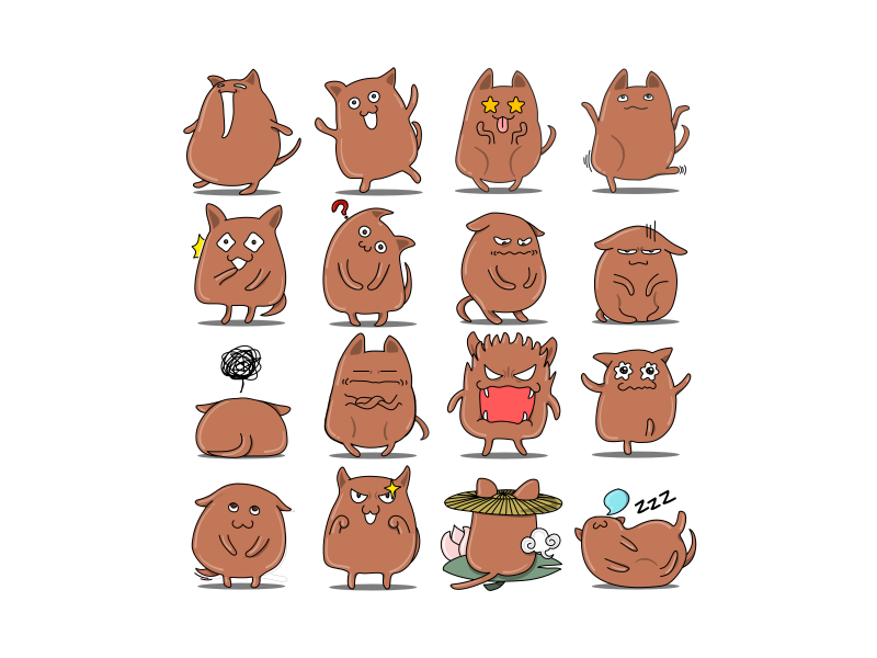 Puppy Emojis by Yingying Zhang on Dribbble