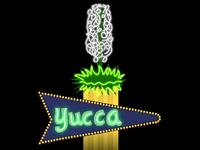Neon sign digital remake - Yucca Motel