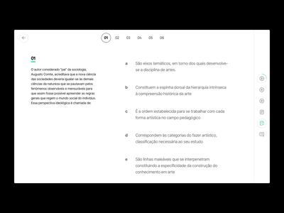 LMS Descomplica —  Exercise brazil interface design learning platform descomplica education colleges lesson exercise interface ux ui design