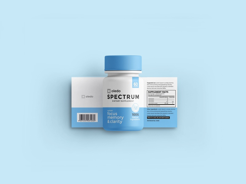 Spectrum Packaging design pharma pharmaceutical spectrum cbd 3d label design packagedesign packagingpro