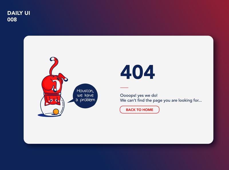 Daily UI #008 - 404 page illustrator graphic design flat typography vector ui ux illustration branding app