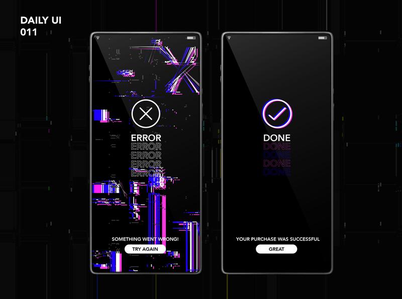 Daily UI #011 - Flash Messages illustration web landing page design graphic design icon vector design ux ui app