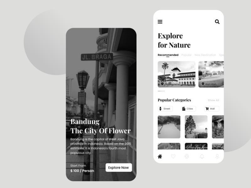 Exploration Bandung Destination modern design dailyui typogaphy design app designer ux  ui uxdesignmastery uxdesigner ux uxdesign portfolio mobile app branding app ui  ux uiux uidesign illustration design ui