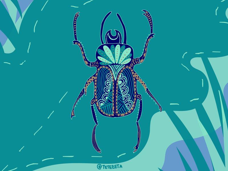 Beetle colours mandala insect insecto bicho animal beetle bug animals drawing draw dibujo ilustration ilustradora ilustraciones ilustración ilustracion ilustracao design illustration