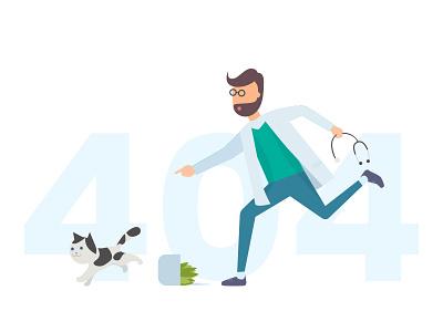 Health and Medical 404 page error message error 404 404page 404 veterinarian veterinary medical app medicine medical health care health doctor app doctor illustration