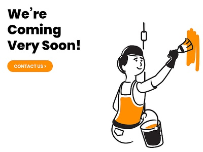 Under Construction Page coming soon page comingsoon user interface technology contact website ux ui working progress underway soon under construction business character illustration