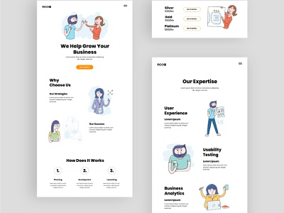Comic strips style ui illustrations technology comics web illustration website hand drawn drawing corporate business vector character illustration ux ui
