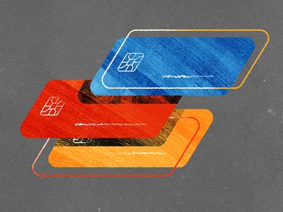 Credit Cards styleframe card 2d texture illustration credit credit cards