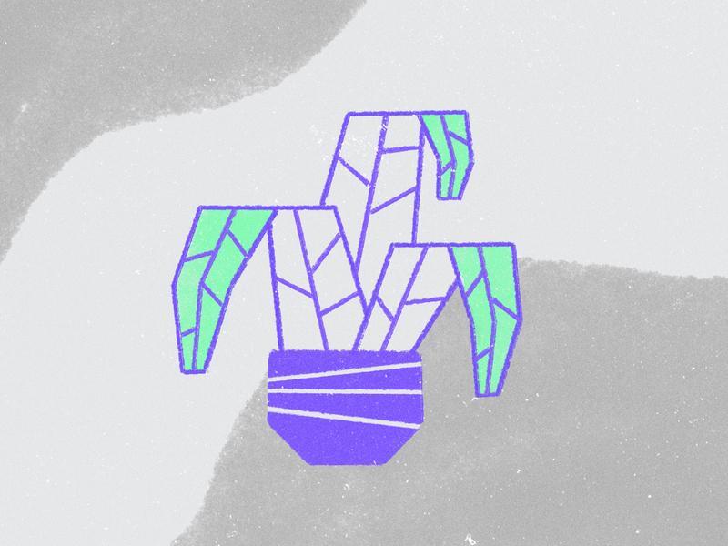 House Plant texture leaf pot plant motion illustration design 2d