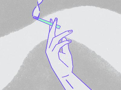 European Life smoke cigarette texture illustration design 2d