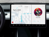 Minimal Auto Infotainment navigation music ux design minimal infotainment ui car automobile auto