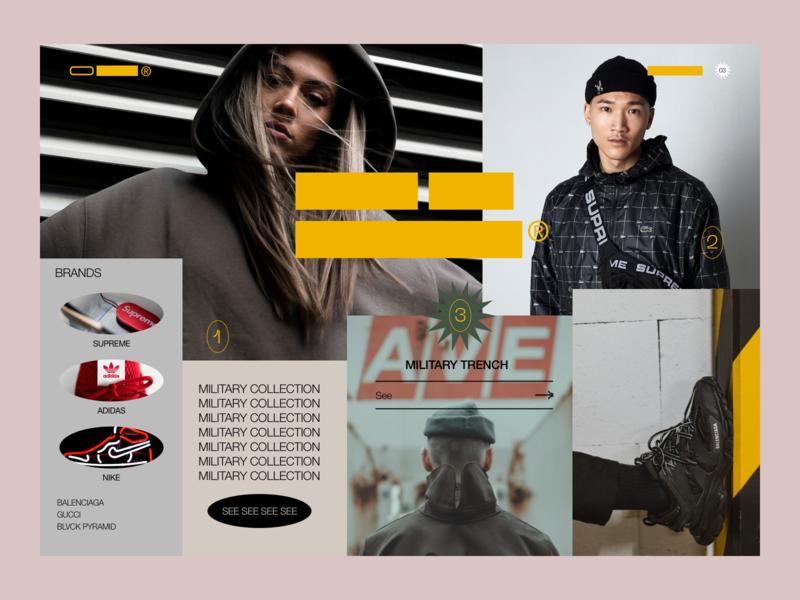 O_Block® Home ux shop ecommerce web design minimal ui