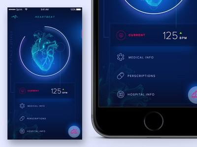 Heartbeat vitals fitness medical android ios app heartbeat greenhouse